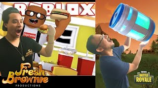 ROBLOX ET FORTNITE LUNCHTIME - FRANCE BROWNIE FRAIS