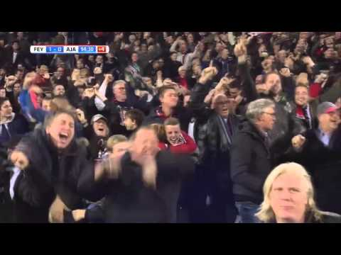 Feyenoord - Ajax 28-10-2015 KNVB Beker Doelpunt met commentaar Radio Rijnmond