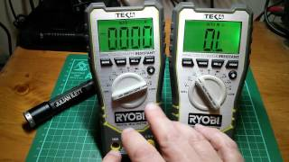measuring a digital multimeter with another one