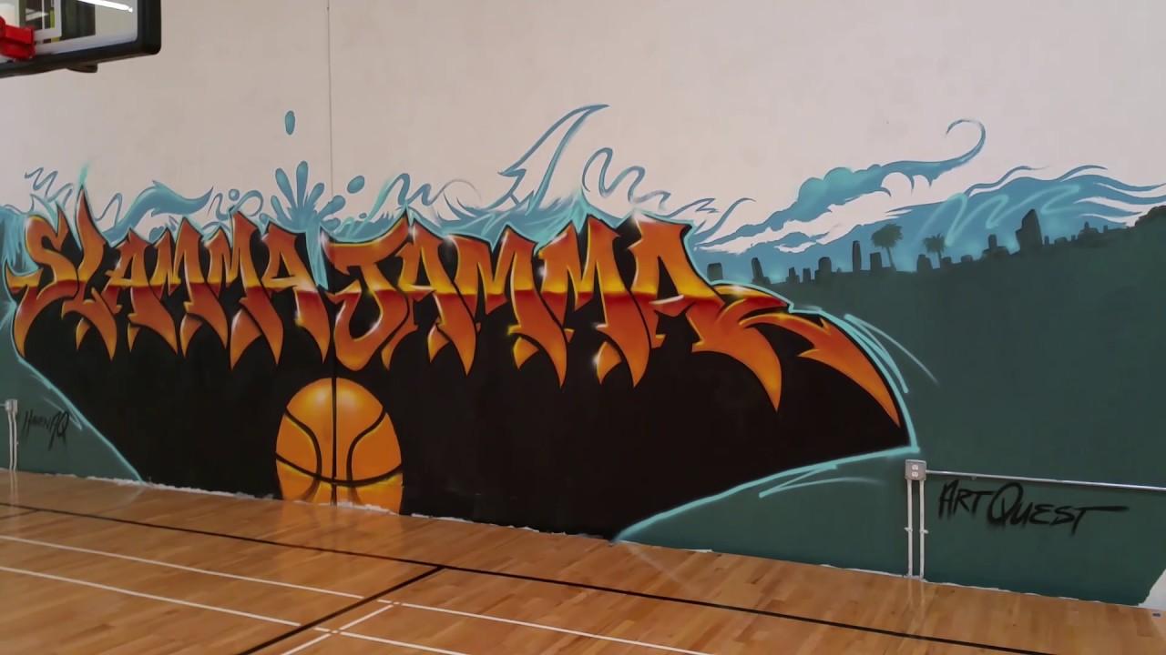 Graffiti the basketball court slamma jamma youtube graffiti the basketball court slamma jamma amipublicfo Choice Image