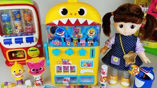 Baby doll and baby shark drinks vending machine toys play - 토이몽