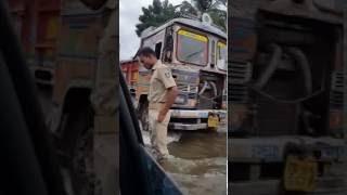 Nalco nager to angul road in rain