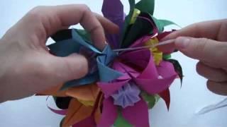 Кусудама оригами | Украшение из бумаги