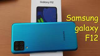 Samsung Galaxy F12 unboxing and initial impression/released in flipkart/sea green colour