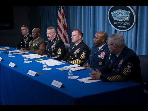 Top Enlisted Leaders for the Services Brief Reporters