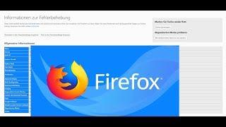Firefox Probleme beheben durch bereinigen | Einstellungen zurücksetzen.