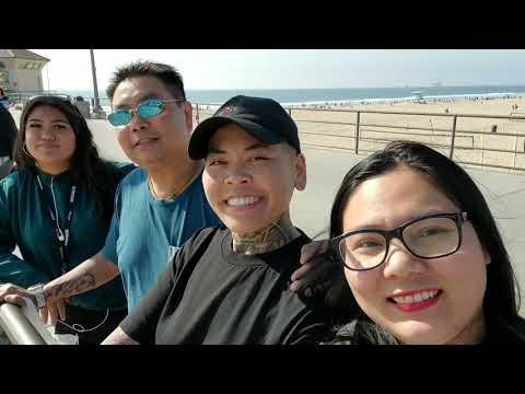 Đi Biển Huntington Beach, California Cùng Các Cháu, Bị Cháu Trêu Hello Cả Nhà... 😆😁😁😁😁