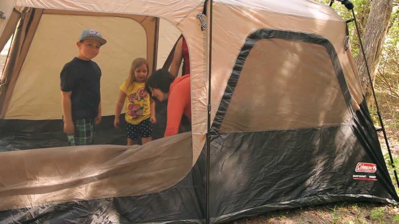 Edwards Family Review of the Coleman Instant Tent from... Canadian Tire & Edwards Family Review of the Coleman Instant Tent from... - YouTube