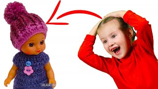 Маленькие ШАПОЧКИ из ниток 💥 Как сделать СВОИМИ РУКАМИ шапку Поделка для кукол