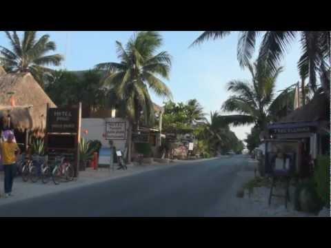 The 'Tourist Strip' of Tulum