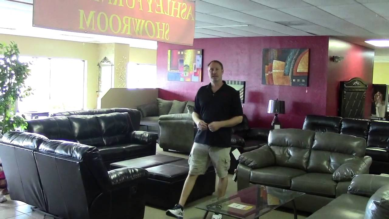 Leather Furniture Ashley Furniture No Credit Check Financing Tampa Fl 33635 Youtube