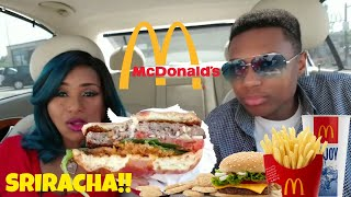 McDonald's Sriracha Value Meal/ Eating Show/Mukbang