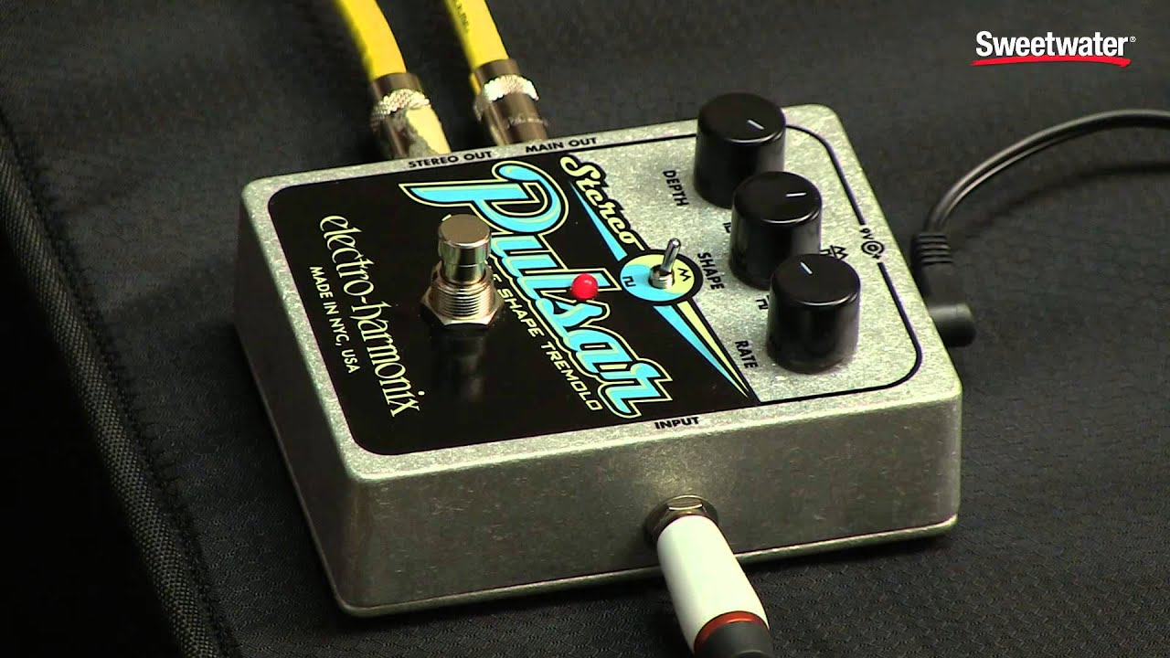 electro harmonix stereo pulsar tremolo pedal review by sweetwater youtube. Black Bedroom Furniture Sets. Home Design Ideas