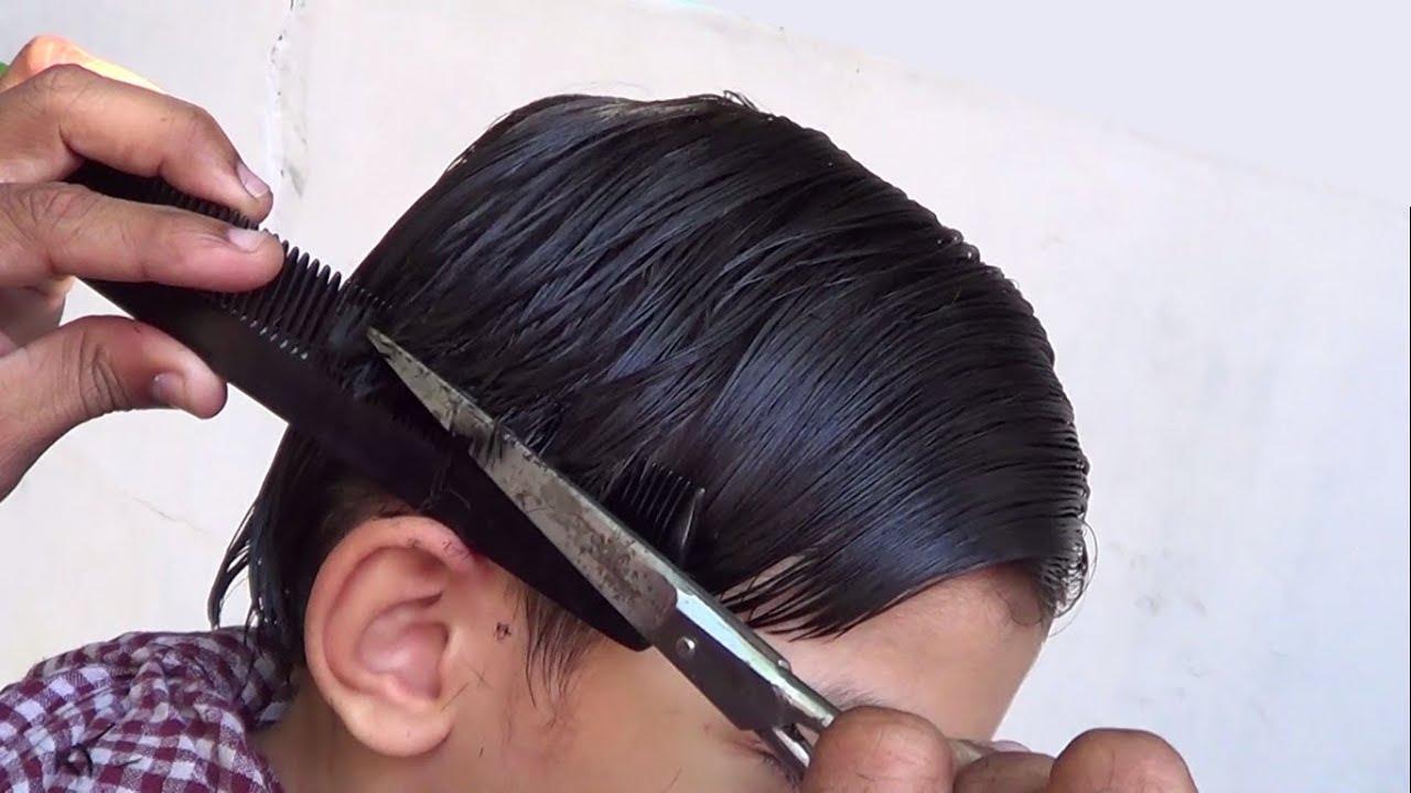 Boys Hair Cut Attack Mushroom Type 3 Steps Youtube