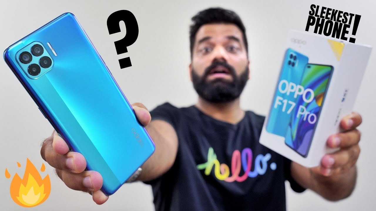 Oppo F17 Pro Unboxing & First Look - Crazy Sleek with 6 Cameras???
