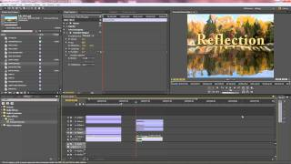 Premiere Pro - Giving text a reflection, shadow and surface animation - Part 2