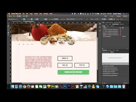 Adobe Muse CC Tutorial | Secret Hyperlinks for iPhone and Android