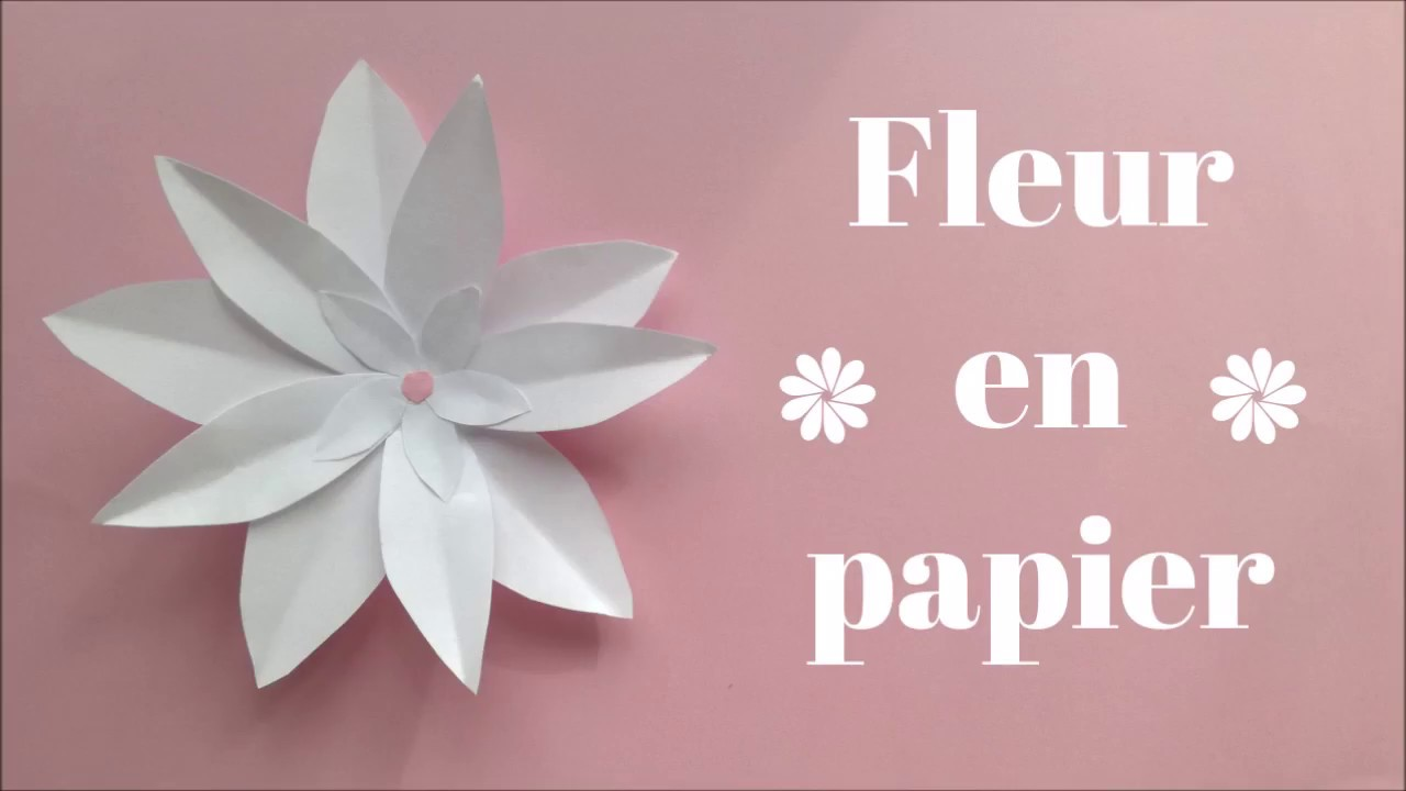 diy fleur en papier facile youtube. Black Bedroom Furniture Sets. Home Design Ideas