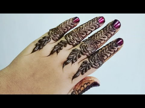 Most beautiful finger henna design