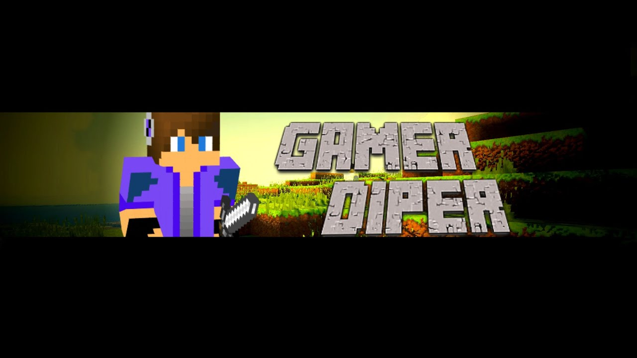 how to mke a minecraft channel art for youtube no photoshop youtube