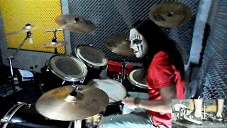 Slipknot - Snuff Drum Cover with Joey Jordison Mask drum play-through by Jordan