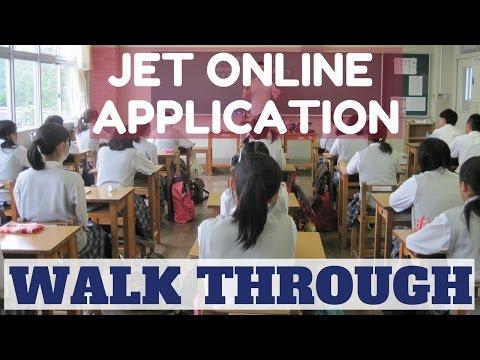 JET Programme Online Application Walk Through 2016