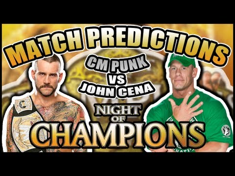 WWE Night Of Champions 2012: CM Punk Vs John Cena Match Prediction!