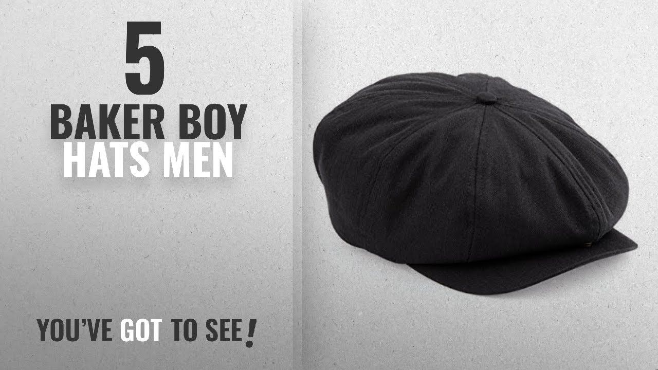 5862924c93c Top 10 Baker Boy Hats Men  2018   Mens Retro Style Black Baker Boy ...