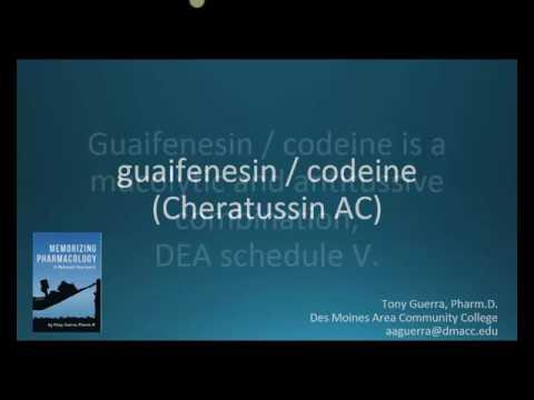 How To Pronounce Guaifenesin With Codeine (Cheratussin AC) (Memorizing Pharmacology Flashcard)