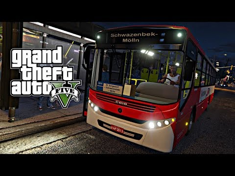 GTA 5: Mod Bus - Ônibus Urbano Linha 10 (São Paulo) Briga de Trânsito
