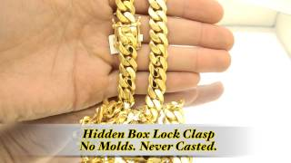 12mm Miami Cuban Link Box Lock Chain Hd Hand Made Custom Daniel Jewelry Inc