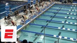 Caeleb Dressel makes history with record 17.63 swim in 50 free at NCAA championships | ESPN