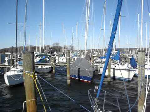 Gust to 50 Knots and Low Tide at the Marina