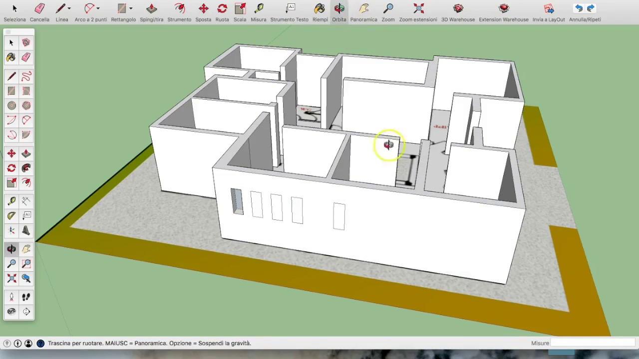 Planimetria Casa Con Misure corso 3d per la didattica: pianta della scuola in 3d