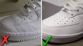 How To Get Creases Out Of Nike Air Force 1's (BEST WAY!!)