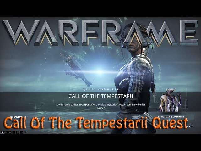 Warframe - Call Of The Tempestarii Quest [Spoilers] - YouTube