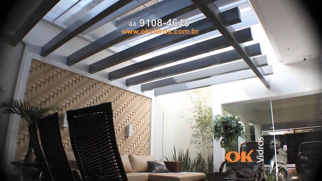Telhado retratil maringa 44 91084648 youtube - Placa policarbonato transparente ...