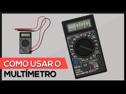 Como usar o multímetro digital - utilizando todas as escalas (testes + medições)