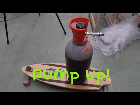 Filling a Tank with compressed air using a Refrigerator Motor. Air pump.