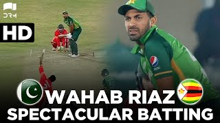 Spectacular Batting By Wahab Riaz | Zimbabwe vs Pakistan | 3rd ODI 2020 | PCB | MD2E
