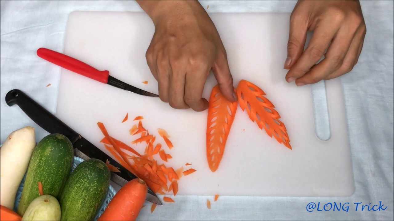 The Easy Designs In Carrot Flower - Vegetable Carving For ...