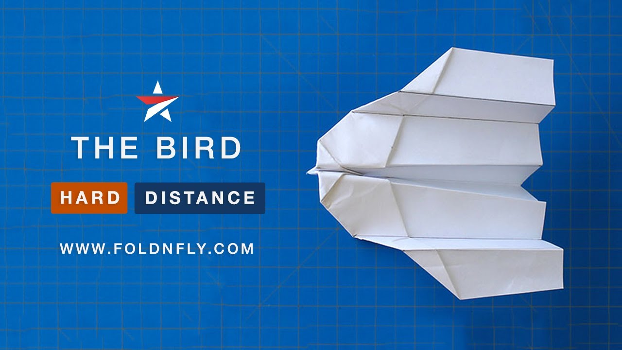 ✈ the bird a fast paper airplane for indoors or outdoors fold  the bird a fast paper airplane for indoors or outdoors fold n fly