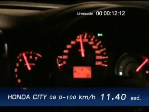 honda city 39 09 acceleration test 0 100 km h youtube. Black Bedroom Furniture Sets. Home Design Ideas