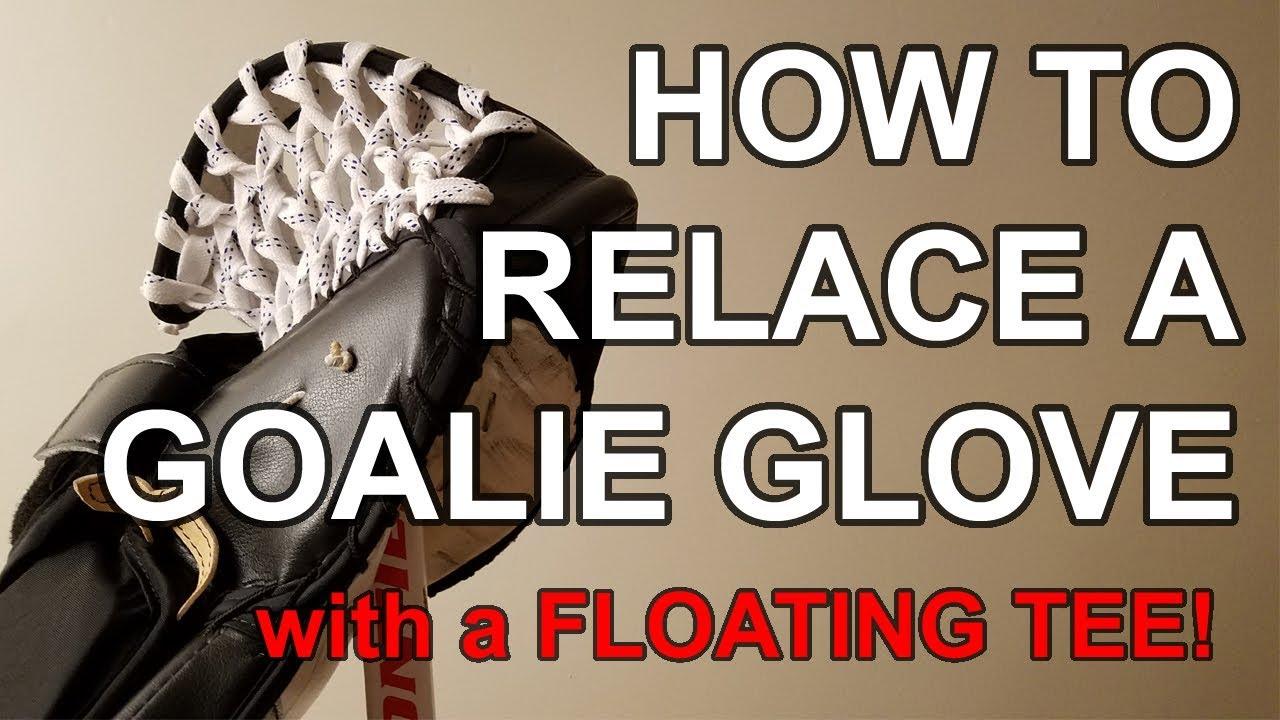 How to Relace Goalie Glove - Skate Lace Floating T - DIY VOG MOD