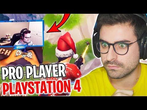 REAZIONE AL MIGLIOR PRO PLAYER DI FORTNITE SU PLAYSTATION 4!