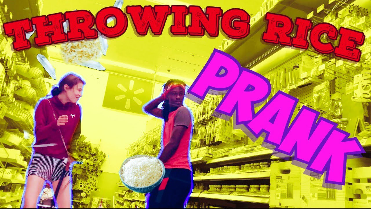 Throwing Rice At people in WALMART!!!