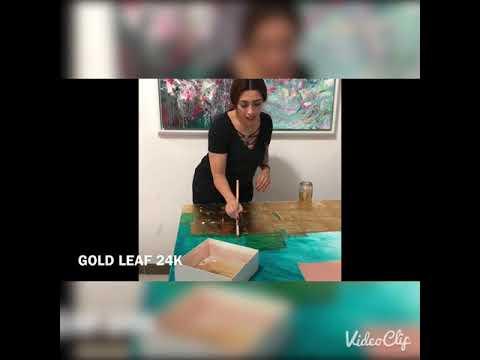 """لمياء منهل """"ورق الذهب ولوحة عيون الأندلس"""" Lamiaa Menhal and gold leaf"""
