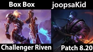 [ Box Box  ] Riven vs Jax [ joopsaKid ] Top  - Box Box Riven Montage