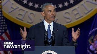What is President Barack Obama's legacy? BBC Newsnight