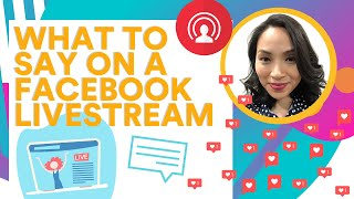 Facebook Live Tips: What to say on a Facebook Livestream (Video Script Template)
